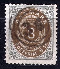 Dänemark 19 I A, O, 8 S. Ziffer im Rahmen, Zahnmängel