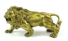 China imperial household consecrate brass Brass Statue figurine LION 5.5inch