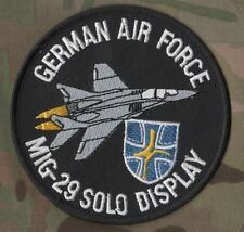 NTM NATO TIGER MEET VELCRO INSIGNIA: German Air Force MIG-29 Solo Display Patch