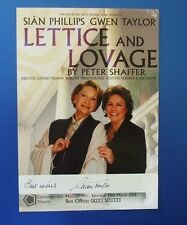 THEATRE FLYER LETTICE AND LOVAGE SIGNED BY GWEN TAYLOR [ HEARTBEAT ]