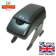 Armrest Centre Console Black Faux Leather Universal Car Van Dvd Holder Padded