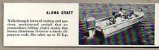 1959 Magazine Photo Aluma Craft Boats 16' All Purpose Aluminum Mercury Outboard
