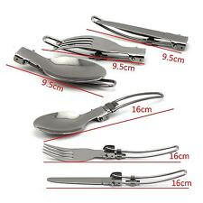 Fashion Picnic Hiking Traveling Tableware Stainless Steel Knife Fork Spoon Set