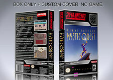MYSTIC QUEST. NTSC VERSION. Box/Case. Super Nintendo. BOX + COVER. (NO GAME)
