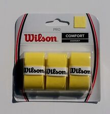 Wilson Pro Overgrip Comfort 3pk Yellow for Pro Players - Over 20Year Auth Dealer