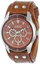 August Steiner Men's AS8073TN Quartz Multifunction Light Brown Strap Watch