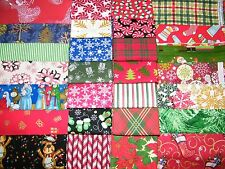 SALE!! 6 FQ Bundle–Xmas GRAB Bag Prints 100% Cotton Quilt  Fabric Fat Quarter V2