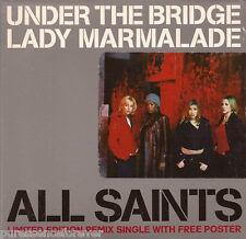 ALL SAINTS - Under The Bridge/Lady Marmalade (UK LE 4 Trk CD Single Pt 2/Poster)