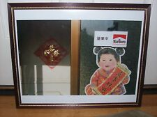 Marlboro Picture Ad Photo Framed CHINESE RARE