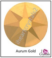 AURUM GOLD 9ss 2.5mm 144 pcs SWAROVSKI Solid Crystal Flatback Rhinestones 2058