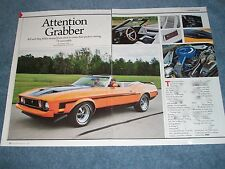 "1973 Ford Mustang Convertible Article ""Attention Grabber"""