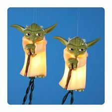 Star Wars Yoda Jedi 10 Holiday Light Set Disney Christmas Indoor/Outdoor Patio