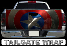 T255 CAPTAIN AMERICA Tailgate Wrap Decal Sticker Vinyl Graphic Bed Cover