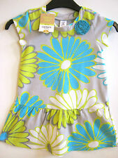Carter's Girls Love To Twirl Blue & Green Floral Cotton Dress 2 Years - New