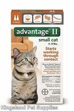 Advantage II for Small Cats (5 - 9 lbs, 2 Month Supply) USA EPA APPROVED