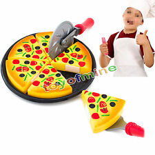 Enfants Cuisine Pizza Party Slices Fast Food Cutting Pretend Jouet alimentaire