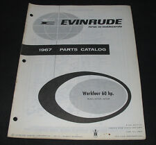 Parts Catalog Evinrude Workfour 60 hp Models 60702R 60703R Stand 1967!