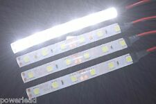 4 x Cool White 6 LED Strip Lights 12V DC for Cars Caravans Boats SWB Vans 10cm