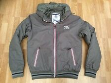 MENS SMITH & JONES HOODED ZIP UP JACKET WITH LOGO ON CHEST GREY SIZE L