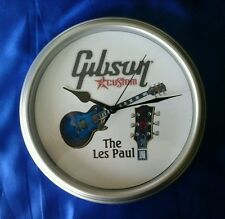 GIBSON LES PAUL CUSTOM QUARTZ WALL CLOCK (SILVER)