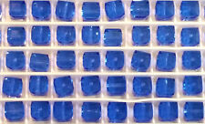 12 Swarovski Crystal 5601 Cubes  6mm - SAPPHIRE - Loose BEADS , Bridal/Wedding