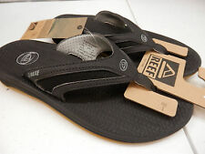 REEF MENS SANDALS FLEX BLACK SILVER SIZE 9