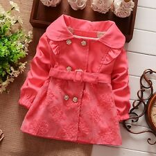 baby girls clothes overcoat autumn winter lace coat wind jacket outerwear 2-3T