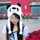 1pc Cartoon Animal Panda Cute Earmuff Fluffy Plush Hat Cap Newest Comfortable