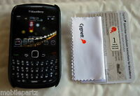 Black Soft Shell Case & Screen Protector  for BlackBerry Curve 8520 & 9300 3G