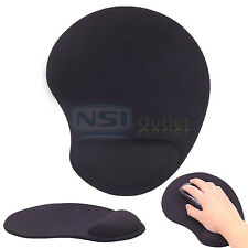 Soft Comfort Mouse Pad Mat w/ Gel Wrist Rest Support Mice Mousepad For PC Laptop