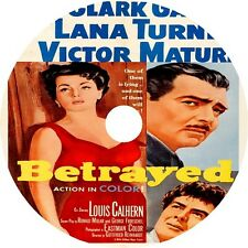 Betrayed DVD Clark Gable Lana Turner Victor Mature Rare 1954