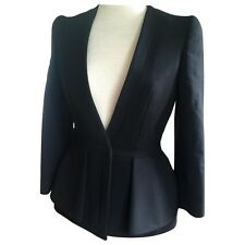 $1,163 Alexander McQueen Wool Bend Peplum Blazer Sz 38 IT Sold Out
