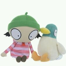 Sarah and Duck Cbeebies Twin Pack Plush with Sound, Cuddly Soft Toys