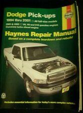 Haynes repair manual--DODGE PICK-UPS 1994-2001