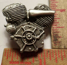 Vintage Harley Flathead motor pin old motorcycle collectible biker memorabilia