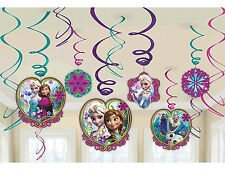 Disney FROZEN Anna Elsa Hanging Swirl Decorations Birthday Party Supplies Favors