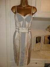 GORGEOUS LINED&BONED FITTED  DRESS BY KAREN MILLEN NWT £180 SIZE UK 14 BUST 38""