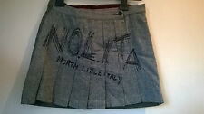 Nolita North Little Italy pleated wool mix skirt with logo embroidery UK 10/40