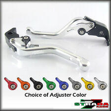 Strada 7 CNC Shorty Adjustable Levers Honda CBR1100XX BLACKBIRD 1997-2007 Silver