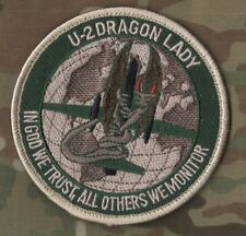 "USAF CIA U-2 DRAGON LADY vel©®Ø PATCH: ""IN GOD WE TRUST, ALL OTHERS WE MONITOR"""