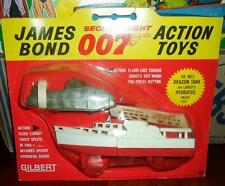 JAMES BOND vintage 1965 Gilbert figures  rare sealed Dragon tank dr no hydrofoil