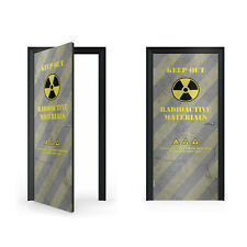 Warning Radioactive Materials Vinyl Sticker for Door