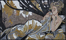 Sleeping Beauty In The Woods Landscape Lady Figure Home Marble Mosaic FG131