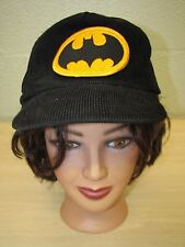 Batman Black Corduroy Baseball Trucker Cap Hat Adjustable DC Comics