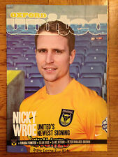 Oxford United  v Torquay United - 2013-14 Season - League 2 Football Programme