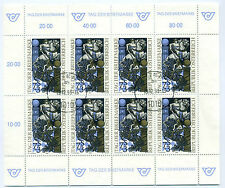 Austria 1993 stamp day sheet of 8 stamps fine used