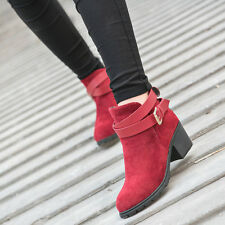 WOMAN LOW HEEL SHORT ANKLE BOOTS WINTER MARTIN SNOW WARM HEELS BOOTS SHORT