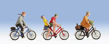 Noch 15898 - 3 x Pre-Painted Cyclists Figures 1/87th =H0/00 Gauge Tracked48 Post
