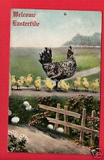 WELCOME EASTERTIDE CHICKEN CHICKS FENCE  FORBING STUDIO KENTON OH 1911  POSTCARD