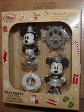 Disney Store Mickey Y Minnie Mouse Steamboat Willie Árbol De Decoración De Navidad